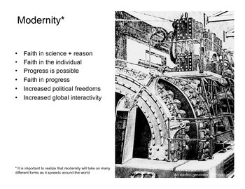 Modernity: the Enlightenment + Scientific Revolution  (Presentation)