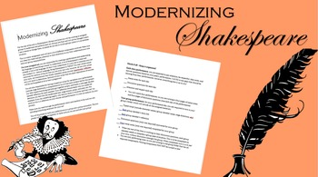 Modernizing Shakespeare - Romeo and Juliet