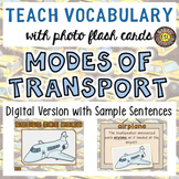 Modes of Transport Digital Photo Flash Cards with Sample S