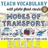 Modes of Transport Photo Flash Cards [3 different types] BUNDLE - SAVE BIG!