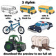 Modes of Transport Clip Art: Trains, Planes and Automobiles!