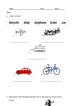 Modes of Transportation _ Adjectives Present Past Tense Verbs _ Vacation