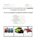 Modes of Transportation en Español Guided Notes