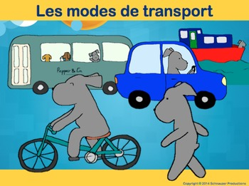 Modes of Transportation in French with Pepper