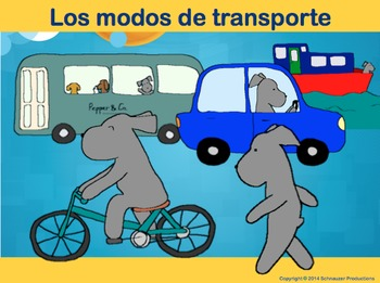 Modes of Transportation in Spanish with Pepper