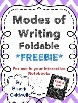 Modes of Writing Foldable FREEBIE
