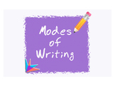 Modes of Writing (Narrative, Persuasive, Expository) Printables