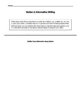 Modes of Writing Stations for Test Prep