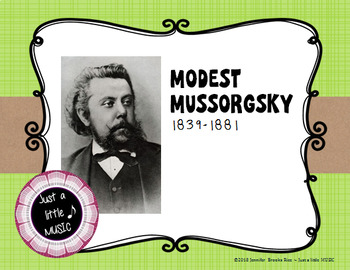 Modest Mussorgsky - his life and music PPT