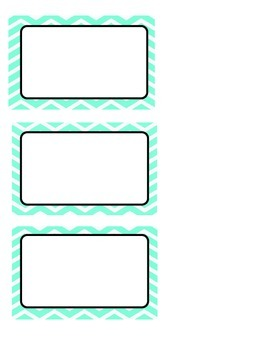 Modifiable Mint Chevron and Orange Chevron Labels