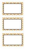 Modifiable Mint Chevron and Orange Chevron Labels