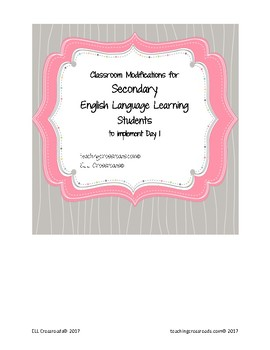 Modifications for Secondary ELL Students
