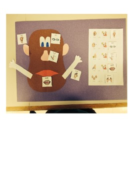 Modifications to the Mr. Potato Head 5 senses activity for students with Autism