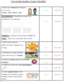 Modified 1st Grade Writers Workshop Checklist for Realisti