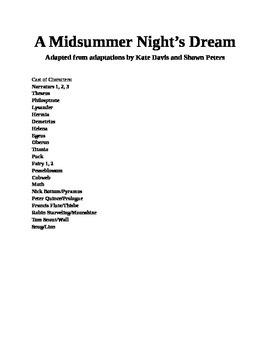 Modified (20 minute) A Midsummer Night's Dream Script