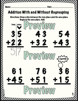Addition with Regrouping BUNDLE