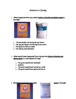 Modified Baking Soda Experiment Assessment