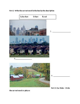 Modified Communities Test- Know your state- New Jersey (2nd grade)
