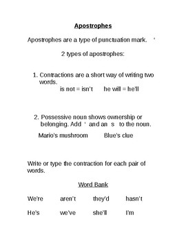Modified Contractions