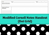 Cornell Notes Handout - Dot Grid