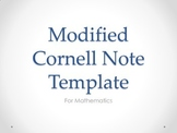 Modified Cornell Template for Math