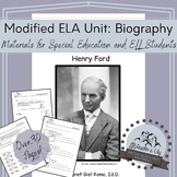 Modified ELA Unit: Henry Ford Biography