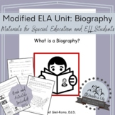 Modified ELA Unit: What is a Biography?