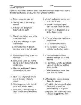Modified English Test