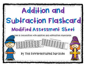 Modified Flashcard Assessment Sheet