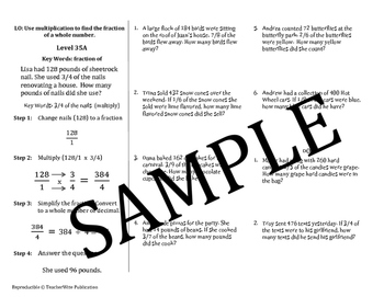 Fraction Problem Solving Mini Lessons: Multiply Fractions & Whole Numbers