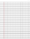 Modified French Ruled Paper (Seyes Ruled)