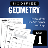 Modified Geometry Lesson 1: Points, Lines, Segments, Rays