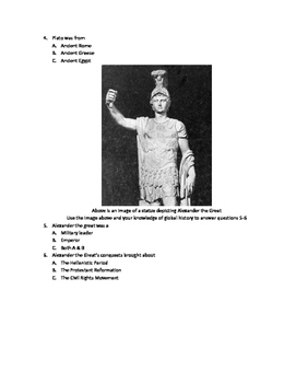 Modified Global History Exam- Ancient Greece and Rome