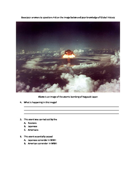 Modified Global History Exam- WWII
