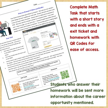 Modified Algebra Task with POD Career Exploration for MS/HS Inclusion Students