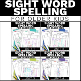 Modified High Frequency Word Spelling Activities - Special