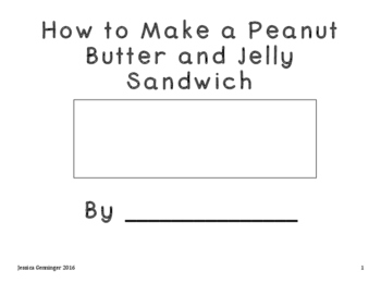 Modified How To Book- Peanut Butter and Jelly Sandwich
