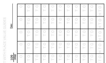 Modified Hundred Hundreds Chart 0-109 w/ Place Value Guides