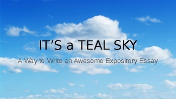 Modified IT'S A TEAL SKY Neolithic Essay
