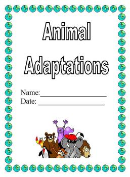 Modified Life Science/Biology Curriculum: Animal Adaptations Chart Cut & Paste