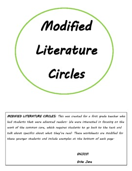 Modified Literature Circles