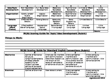 Modified MCAS Rubric