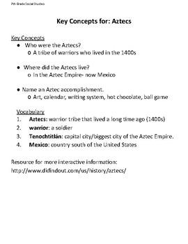Modified Materials: The Aztecs