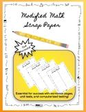 Modified Math Scrap Paper