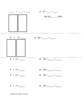 Math Worksheets: ADD/SUBTRACT, MAKING 10, UNKONWN ADDEND