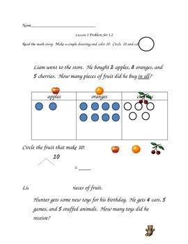 Math Worksheets: ADD/SUBTRACT, MAKING 10, UNKONWN ADDEND by Kristi Elyse
