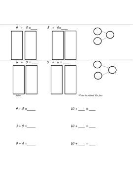 Math Worksheets: ADD/SUBTRACT, MAKING 10, UNKONWN ADDEND