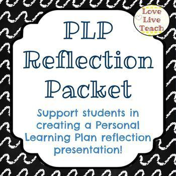 PLP Reflection Packet/slideshow for Special Education by Love Live Teach