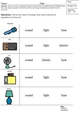 Modified Physics Test; Energy Types; Alternate Curriculum; Boardmaker