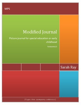 Modified Picture Journal for Special Education or Early Childhood